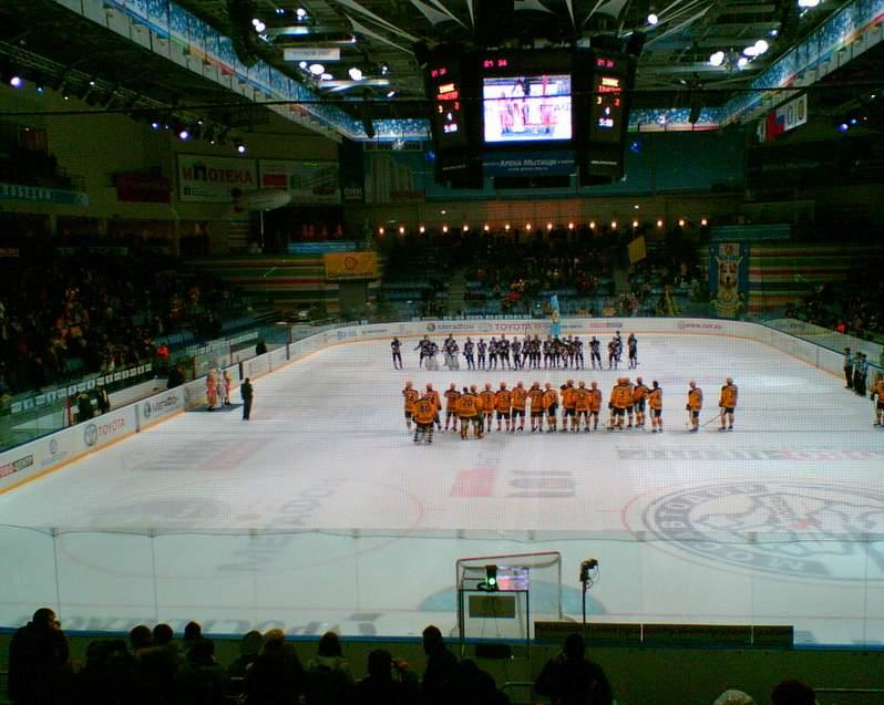 Арена Мытищи - вид внутри арены