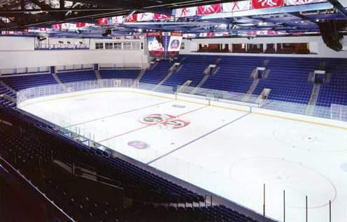 """Ледовый хоккейный центр """"Витязь"""" - вид внутри арены"""