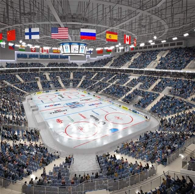 Минск-Арена - вид внутри арены