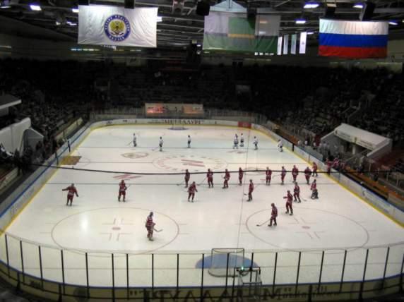 Дворец спорта кузнецких металлургов - вид внутри арены