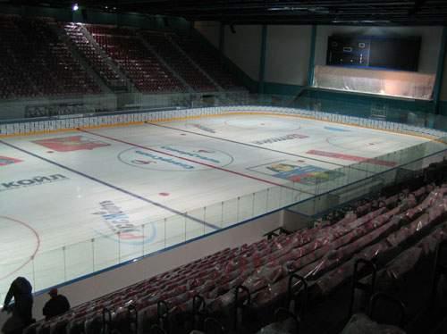 Ледовый дворец - вид внутри арены