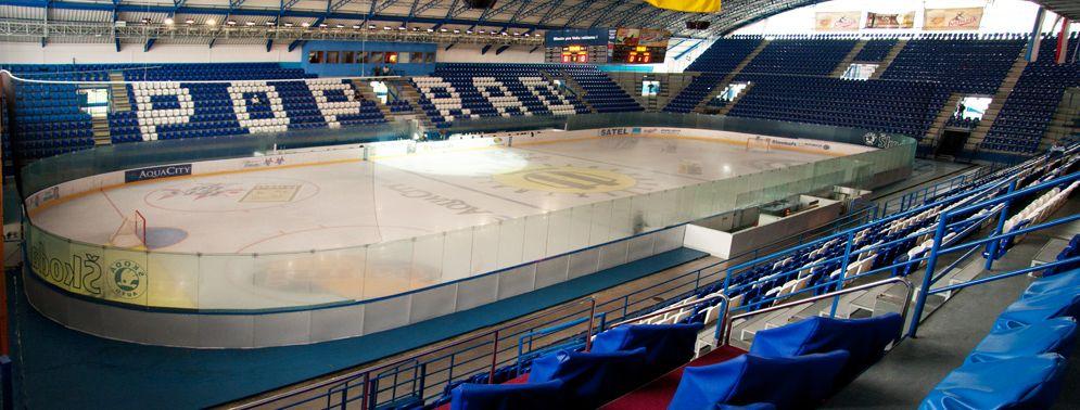 Зимний стадион города Попрад - вид внутри арены